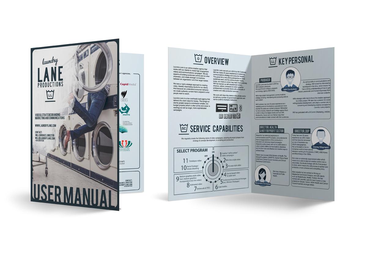 catalogo de servicios para empresa audiovisual - diseño gráfico - diseño editorial