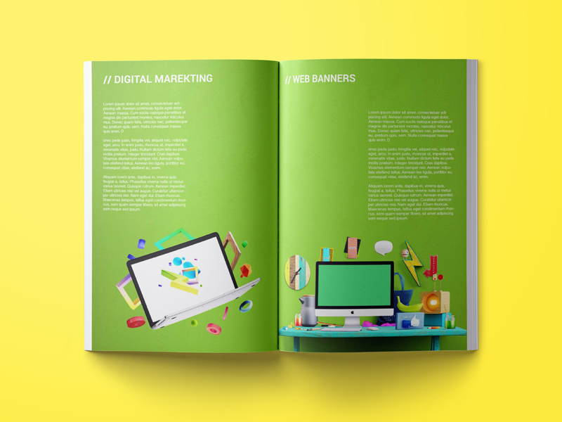 Folleto brochure - diseño grafico - diseño editorial