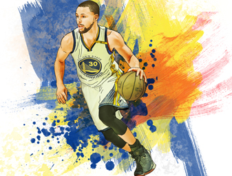 Ilustración Stephen Curry